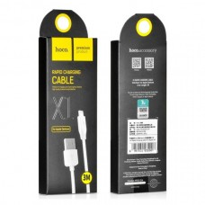 "USB кабель для Apple iPhone 5 ""HOCO X1 Rapid""  3M"