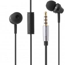 Гарнитура Remax RM-501 Вакуумные,с кнопкой ответа на звонок и микрофоном) (Черный)