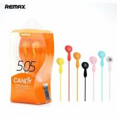 Гарнитура Remax RM-505 (Вакуумные,с кнопкой ответа на звонок и микрофоном) (Черный)
