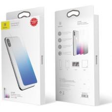Защитное стекло для задней панели Baseus iPhone X Blue (GR03)