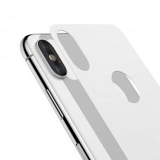 Защитное стекло 4D для задней панели Baseus iPhone X Arc Silver (SGAPIPX-4D0S)