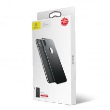 Защитное стекло 4D для задней панели Baseus iPhone X Arc Space Gray (SGAPIPX-4D0G)
