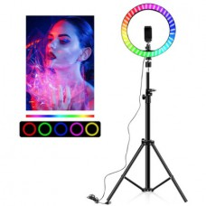 Замена кольцевой лампы ЦВЕТНОЙ RGB MJ33 32 см со штативом 2 м